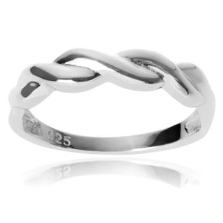 Journee Collection Sterling Silver Twist Band Ring