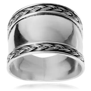 Journee Collection Sterling Silver Bali Ring