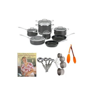 Cuisinart 13-Piece Contour Hard Anodized Cookware Set Bundle