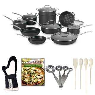 Cuisinart Chef's Classic Nonstick Hard-Anodized 17-Piece Cookware Set Bundle