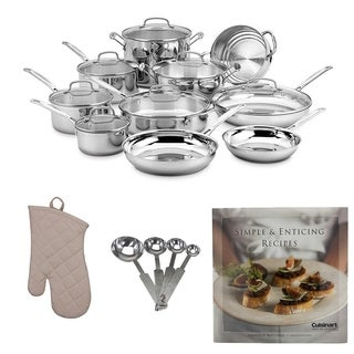 Cuisinart Chef's Classic 17-Piece Cookware Set Bundle