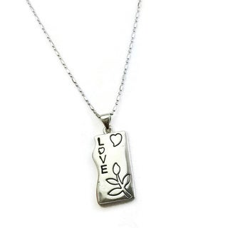 Mama Designs Love Rhodium-plated Inspiring Necklace