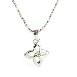 Mama Designs Petite Flower Rhodium-plated Necklace