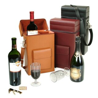 Royce Leather Genuine Leather Luxury Wine Carrier