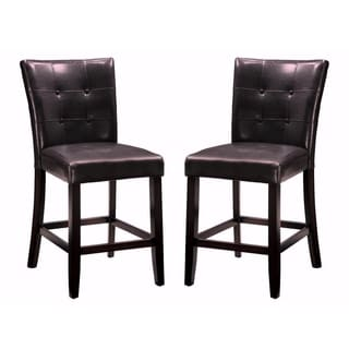 Camino Button Tufted Design Counter Height Stools Set Of