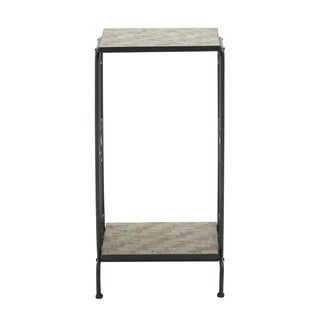 Astonishing Metal Stone Plant Stand
