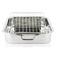 Stainless Steel 16-inch Lasagna Pan with Rack