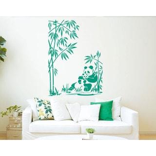 Panda Bamboo Vinyl Sticker Wall Art
