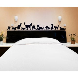 Set of 11 Cats Vinyl Sticker Wall Art