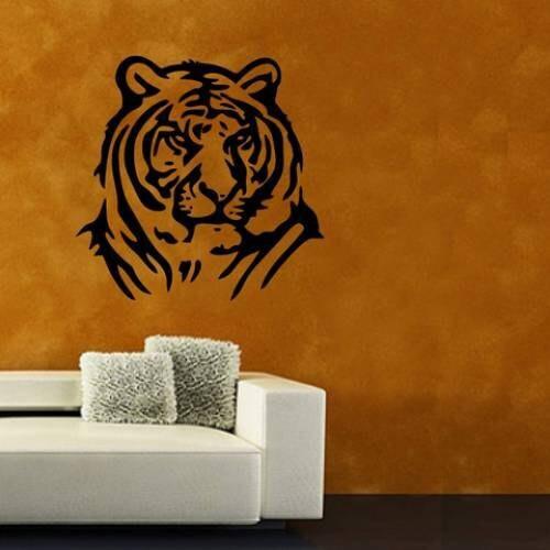 Tiger Head Vinyl Sticker Wall Art