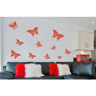 Tribal Butterflies Inspirational Vinyl Sticker Wall Art