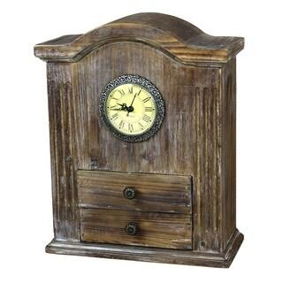 Vintage Wooden Desk Clock