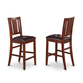 Buckland Counter Height Dining Chair in Mahogany Finish (Set of 2)
