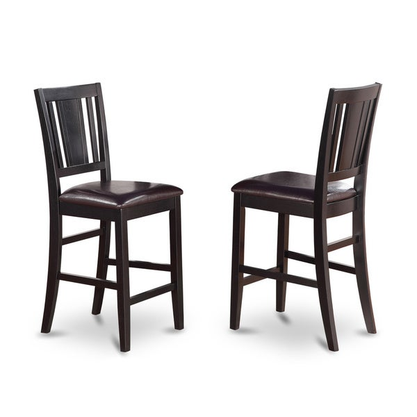 Buckland Black Finish Counter Height Chair Set Of 2