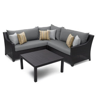 RST Brands Deco 4-piece Corner Sectional Set with Charcoal Grey Cushions