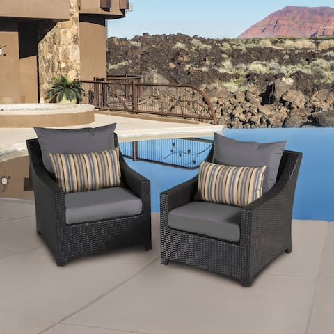 RST Brands Deco Set of 2 Club Chairs with Grey Cushions