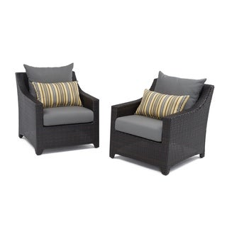 RST Brands Deco Set of 2 Club Chairs with Charcoal Grey Cushions