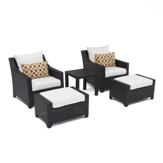 RST Brands Deco 5-piece Club Chair and Ottoman Set with Moroccan Cream Cushions