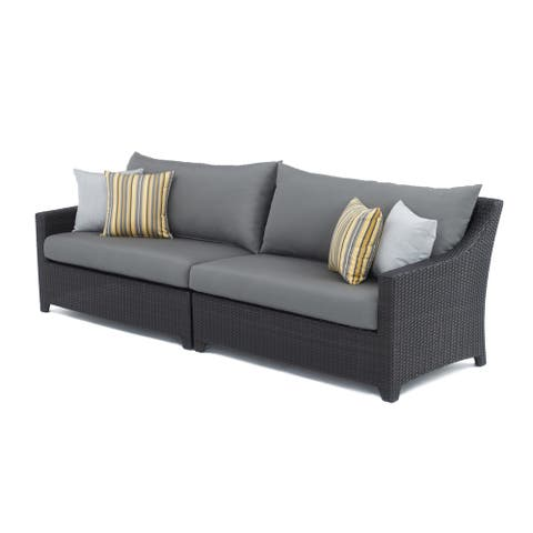 RST Brands Deco 2-piece Sofa with Charcoal Grey Cushions