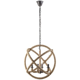Object Steel and Rope Chandelier