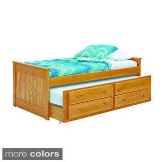 Woodcrest Heartland Collection Twin Captains Trundle and Storage Bed