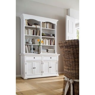 NovaSolo Mahogany Hutch Cabinet
