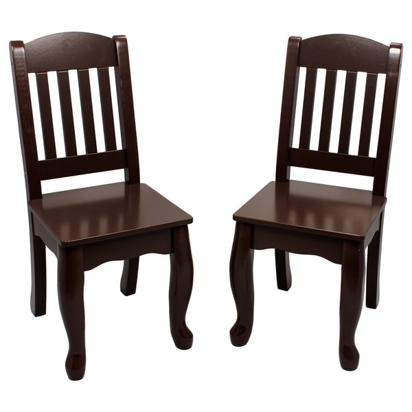 Teamson Kids' Espresso Windsor Chairs (Set of 2)
