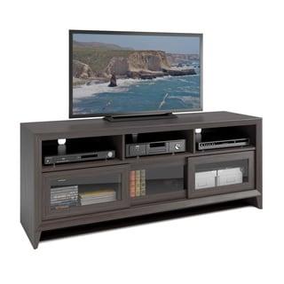 """CorLiving TEK-576-B Kansas TV Bench in Modern Wenge Finish for 60"""" TV"""