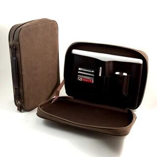 Multi-compartment Ultra Suede Laptop Briefcase