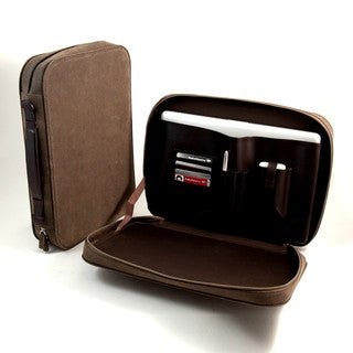 Multi-compartment Ultra Suede Laptop Briefcase