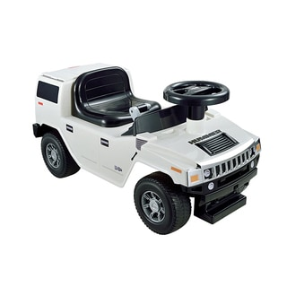 Kid Motorz Hummer H2 Foot-to-Floor White Ride-on