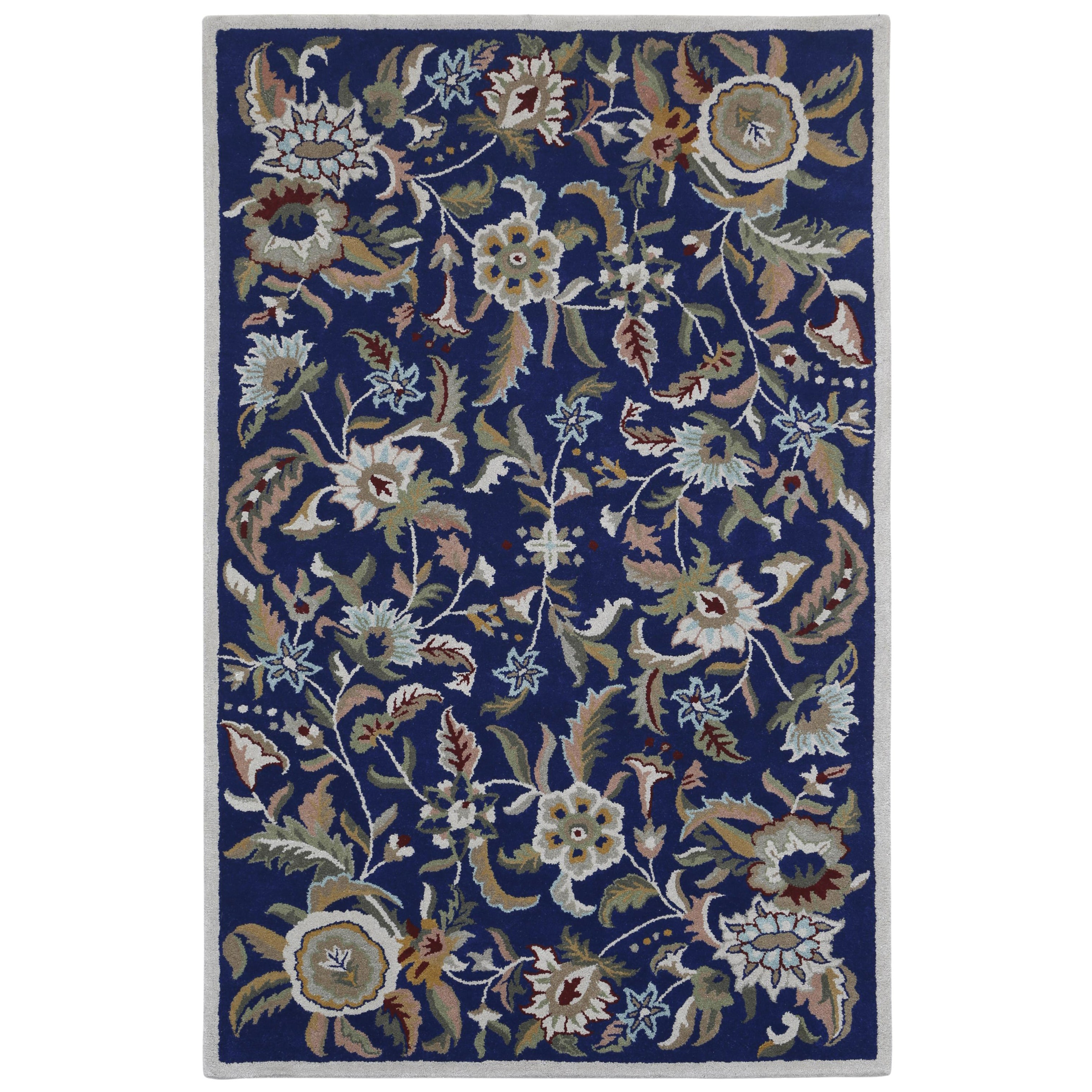 St. Croix Blue Wool Traditions Paradise (5'x8') Rug, Size...
