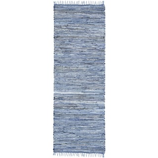 Blue Matador Leather & Denim (2.5'x14') Runner