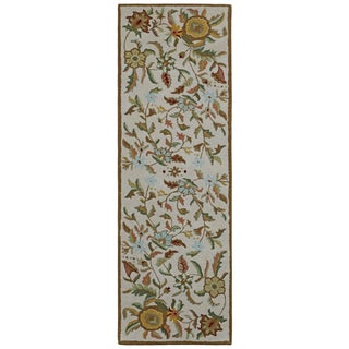 Brown Wool Traditions Paradise (2.5'x12') Runner