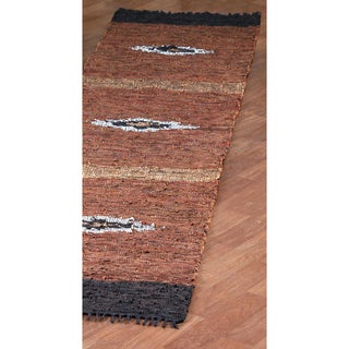 Diamond Matador Leather Chindi (2.5'x14') Runner