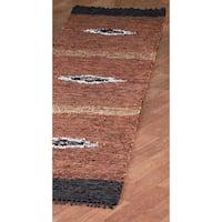 Diamond Matador Leather Chindi - 2.5'x14'