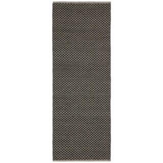 Brown Jute Squares (2.5'x8') Flat Weave Runner