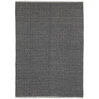 Black Jute Diamonds Flat Weave Rug - 9' x 12'