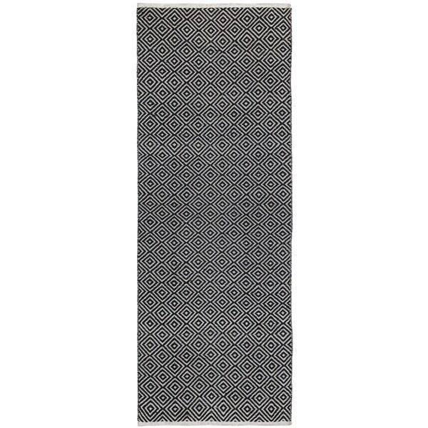 Black Jute Diamonds (2.5'x8') Flat Weave Runner