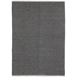Black Jute Diamonds (10'x14') Flat Weave Rug