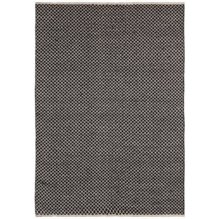 Brown Jute Squares (3'x5') Flat Weave Rug