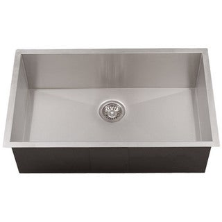 Phoenix 36-inch 16-gauge Stainless Steel Single Bowl Undermount 0-radius Square Kitchen Sink