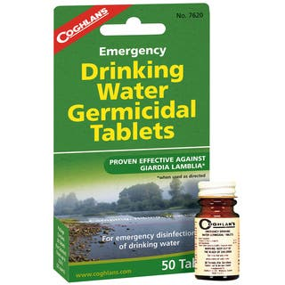 Coghlans Emergency Germicidal Drinking Water Tablets|https://ak1.ostkcdn.com/images/products/10184183/P17307762.jpg?impolicy=medium