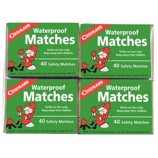 Waterproof Matches (Package of 4)