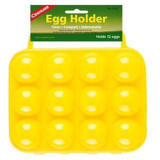 Coghlans Yellow Plastic One Dozen Egg Holder
