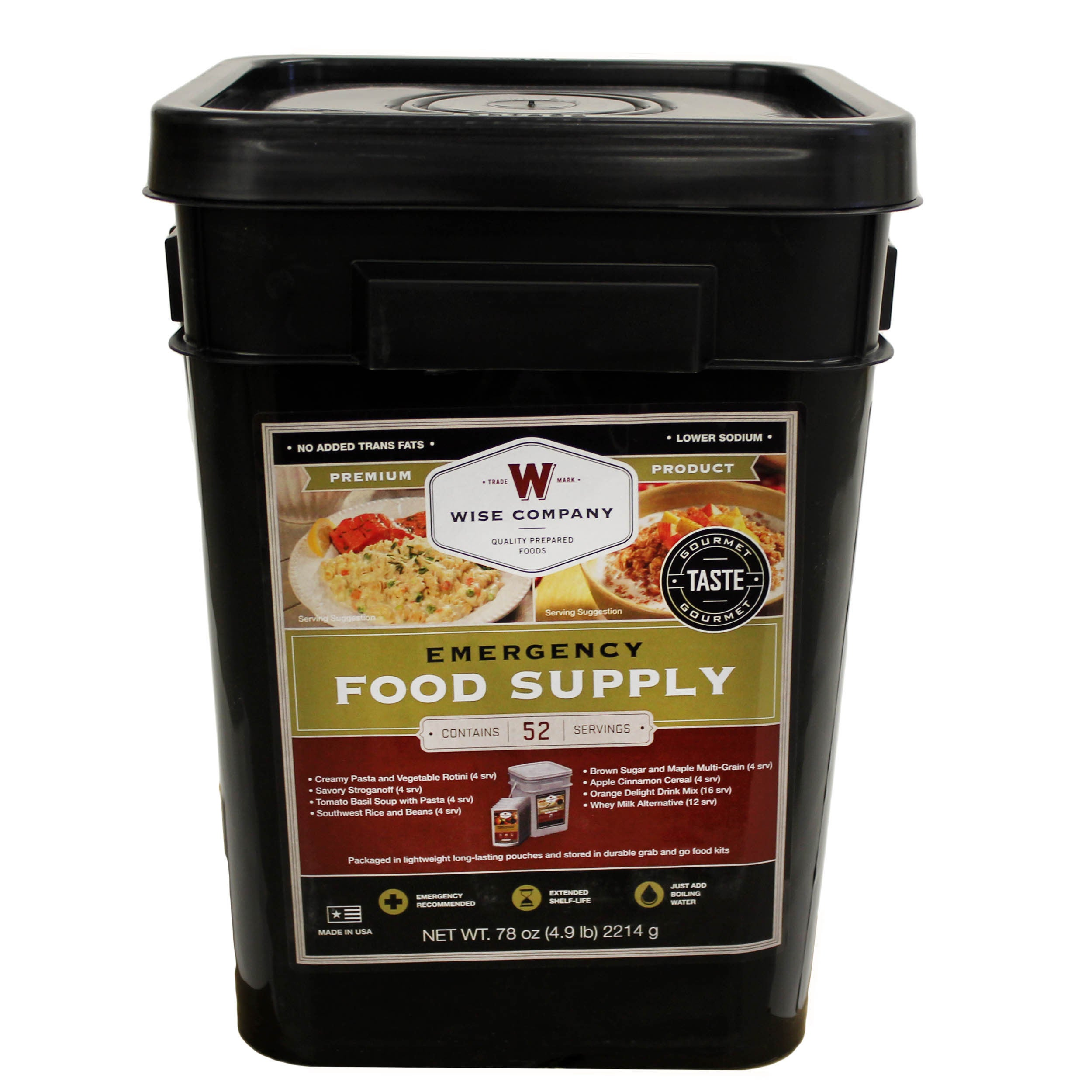 Wise Foods Prepper Pack Emergency Meal Kit Bucket (52 Ser...