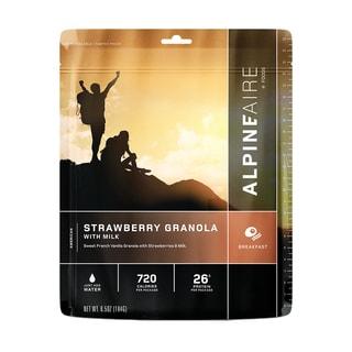 Alpine Aire Foods Strawberry Granola with Milk ( Serves 2)