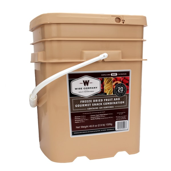 Wise Foods Freeze Dried 120 Serving Bucket Fruit and Snack