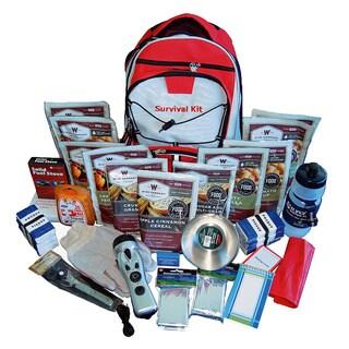 Wise Foods 2 Week Essential Survival Backpack Red