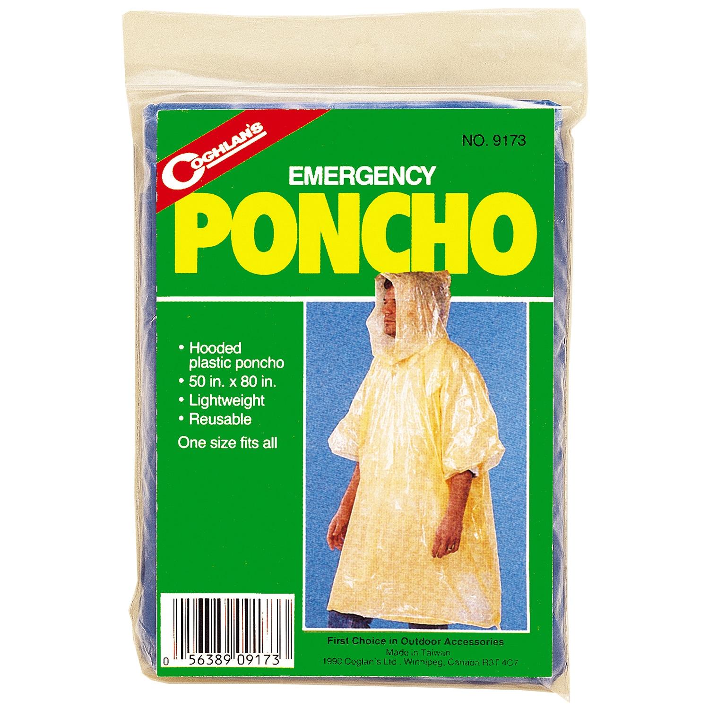 Coghlans Emergency Poncho (Size: 50 x 80)